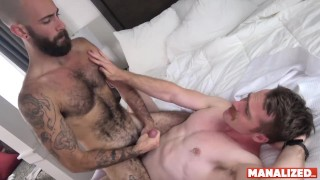 MANALIZED Nate Stetson Barebacks Hairy Jock Into Cumming