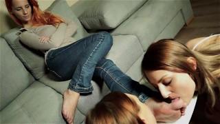 Gorgeous Redhead foot worship