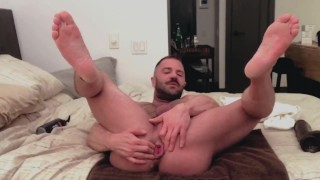 Warming Up my Pussy for a Big Dildo