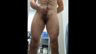 Quick jack off session in the restroom at work
