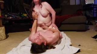 I cum so hard when I sit on his face! Cowgirl, doggystyle, & creampie!!