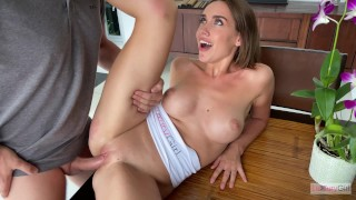 Fucked My Сute Girlfriend On The Kitchen Table