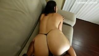 Big booty Latina gets pounded from behind by bbc - Carmela Clutch