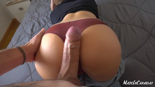 ANAL squirting orgasm | Huge cumshot | Big natural tits
