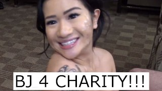 BJ 4 Charity. Sexy teen sucks my dick for the environment.