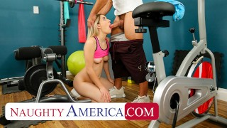 Naughty America - Abby Adams fucks her friend's dad in an empty gym