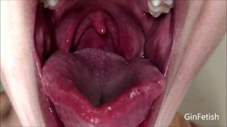 Tongue and uvula check with lots of spit (Short version)