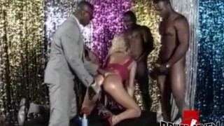BRUCE SEVEN - Heather St. Clair Takes On 4 Big Black Cocks