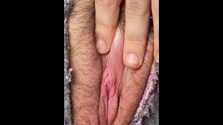 making my clit jump outside