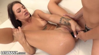 LesbianX Evelin Stone's Rough Lesbian Anal