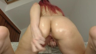 twerinking and riding my pink dildo till i squirt all over! HD POV
