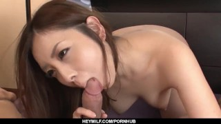 Maki Mizusawa sure loves holding the cock in he - More at Japanesemamas com