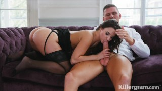 Killergram Amirah Adara takes 9 inches of hard cock in her pussy