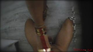 Femdom Footjob and heels job (POV) by Mistress Kym