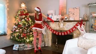 SANTA'S WAIFU CELEBRATES CHRISTMAS! - INDIGO WHITE