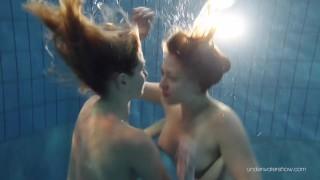 Duna and Nastya horny underwater lesbians
