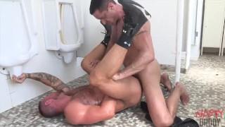 Michael Roman Fucked in Public Toilet by Nick Capra