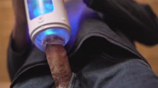 Robot Sex Machine. Robotic Fleshlight. Male sex toy blowjob machine slow mo