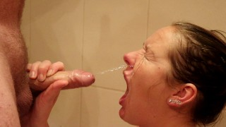 She Loves Pee In Her Mouth! - FaceFuck - Facial - Fingers My Ass Again
