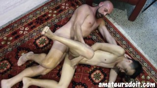 AmateursDoIt - Young Asian fucked bareback by daddy'porno cock