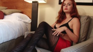 All Natural Wife, Amazingly Hot Redhead Ashley´s Masturbation in Pantyhose