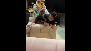 Who knew a clown could get this much ass!
