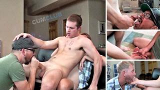 Swallowing Loads w/Straight Boy Jaxson – Cum Eating + Outtakes