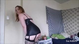 Pee desperation in tight dress