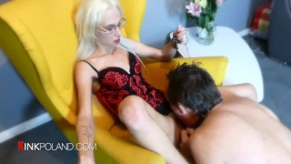 Dominant Mistress play with dog slave and make hard sex with him!
