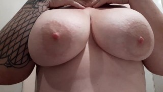 Titty Tuesday big natural tits get lotioned up