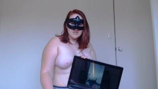 Chubby Redhead Slut Rating White Cock Cum Shot