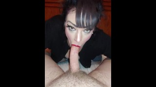 Young hot amateur MILF loves to suck and swallow that dick