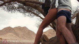 PUBLIC TEEN SEX IN THE DESERT - ISEEME 4K 60FPS