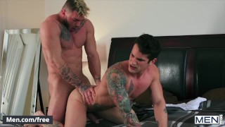 Mencom - Inked studs Pierre Fitch, William Seed shower fuck fuck vacation