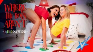 VIVID Adriana & Scarlett Lesbian Twister- Where The Boys Aren't!