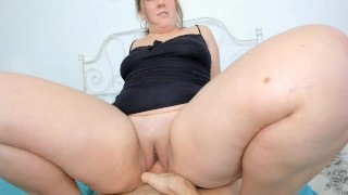 Fucked pussy in Cowgirl pose. POV. Ride him mom