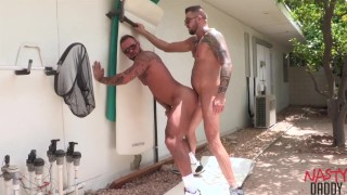 Nasty Daddies Michael Roman and Dolf Dietrich Fucking Outside