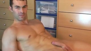 Too handsome to do porn: str8 sport male gets wanked his dick by a guy