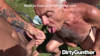 Fresh Cum Makes Perv Gunther Feel Young Again