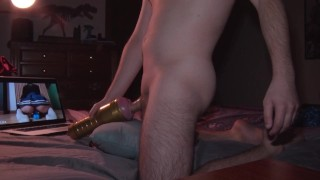 Fleshlight fuck while watching Liza Shultz masturbate