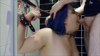 Bound Slut Extreme Dirty Messy Deepthroat Facefuck Abuse