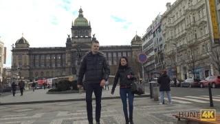 HUNT4K. Prague pickup and passionate sex for cash