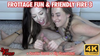 Two Big Tit Teens Frot Cocks & Milk Big Loads Out Of Them!