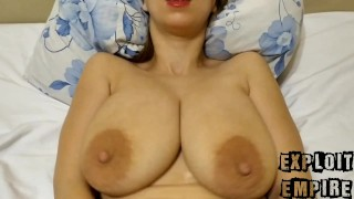Swinging Tits in a missionary position. Hot sex.