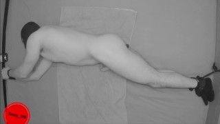Straight guy Moaning while his Prostate is Getting Milked - Vibrating Toy