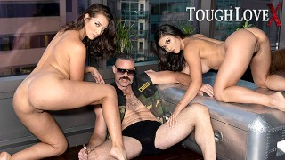 TOUGHLOVEX Brooklyn Gray and Bella Rolland pleasing master Karl
