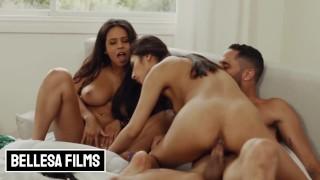 Bellesa - Latinas Gianna Dior & Autumn Falls share in threesome