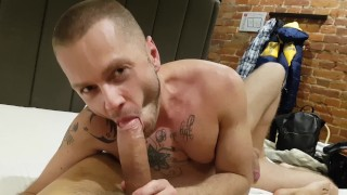 POV blowjob for HUGE DICK with Vadim Romanov