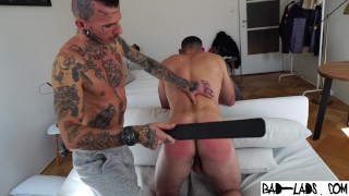 Muscle ass gets spanked hard