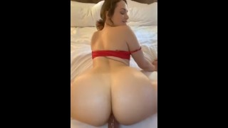 Brunette PAWG twerking & riding big dick (looking for her name)